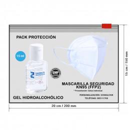 PACK PROTECCIÓN - NECESER + GEL + MASCARILLA KN95 (FFP2)